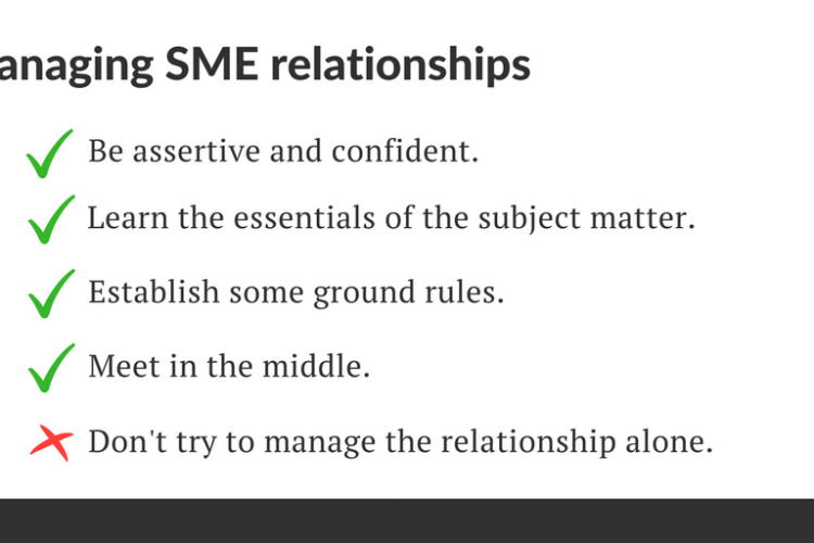 How to establish SME relationships